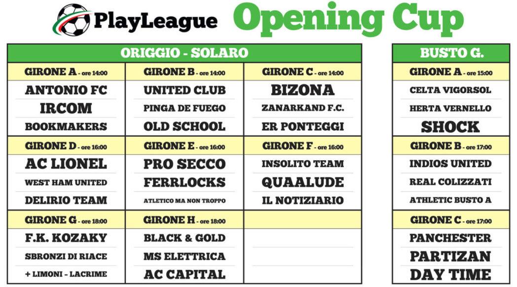 PLAYLEAGUE.IT calcio a 5/7 - opening cup origgio solaro, opening cup busto garolfo, calcetto, calcio a 5 legnano, tornei playleague - Tel: 02 96732548