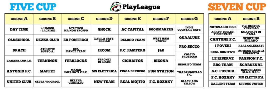 PLAYLEAGUE.IT- five cup calcio a 5, seven cup calcio a 7, calcetto origgio, campi calcio legnano, calcio busto garolfo - Tel: 02 96732548